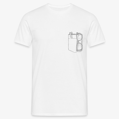 Poche a stylo - Männer T-Shirt