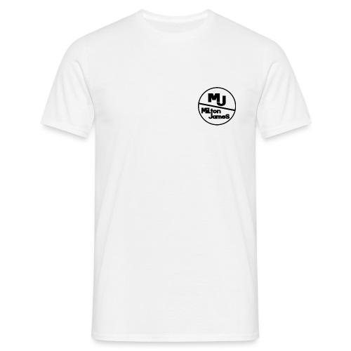 miltonjameslogo_black - Men's T-Shirt