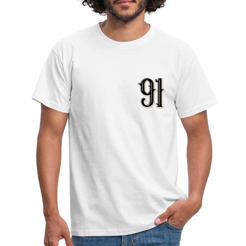 Nineone Classic Style Numbers 01 black - Männer T-Shirt
