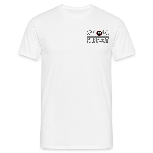 210 8 pro supp white black 8 ball redoutline png - Men's T-Shirt