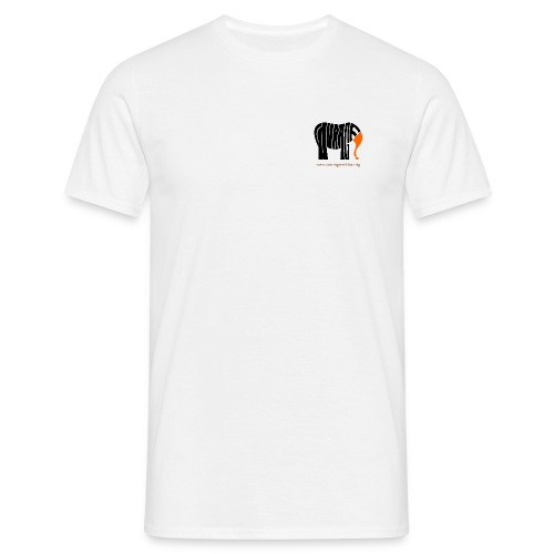 courage elefant 1500 400dpi www - Männer T-Shirt
