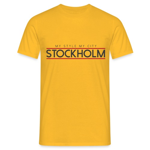 MY STYLE MY CITY STOCKHOLM - Men's T-Shirt