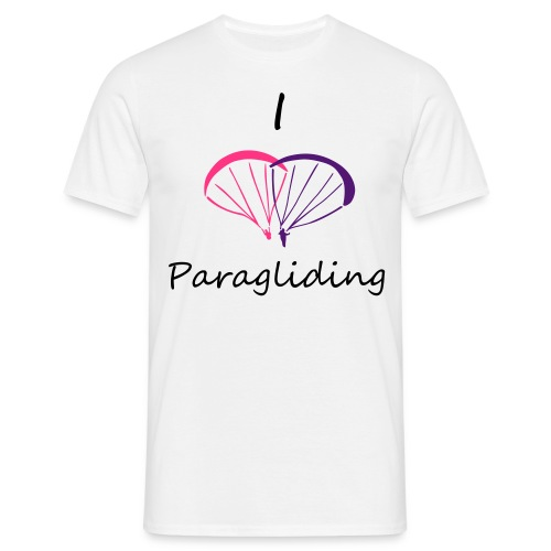 I Love Paragliding V2 - Men's T-Shirt
