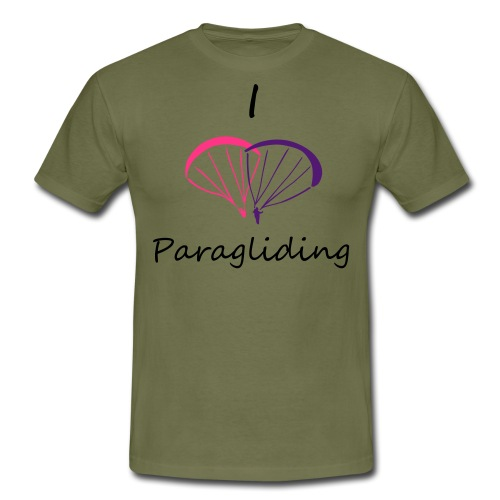 I Love Paragliding V2 - Men's T-Shirt