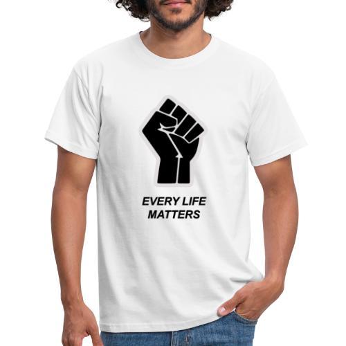 ELK LEVEN IS BELANGRIJK - Mannen T-shirt