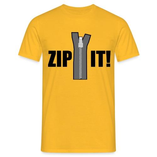 Zip It! - Men's T-Shirt