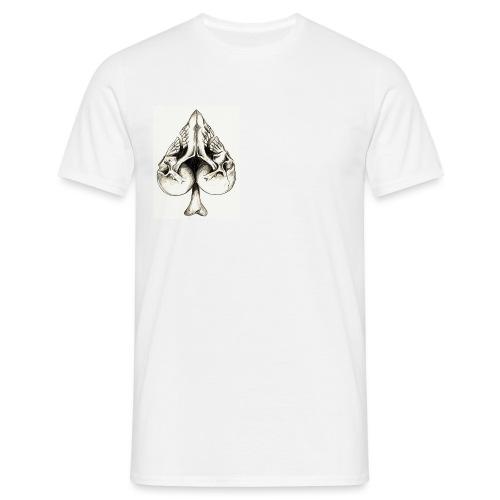 Corazon de calavera - Camiseta hombre