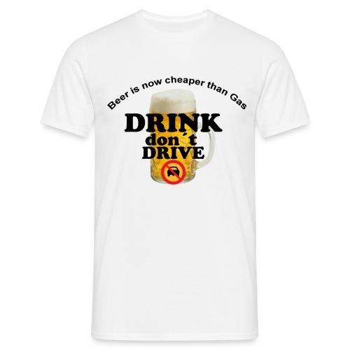 Drink Don´t Drive - T-shirt herr