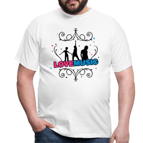 Motif Love Music - T-shirt Homme