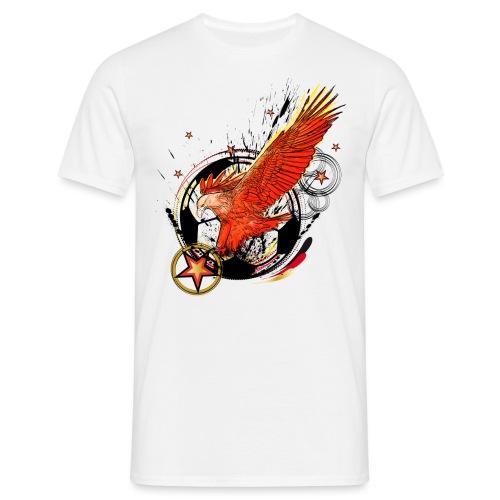 Adler mit Deutschland Stern - Männer T-Shirt