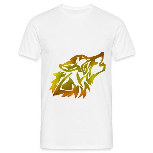 trancelestialpsychobabas orangestyle wolf png - Men's T-Shirt