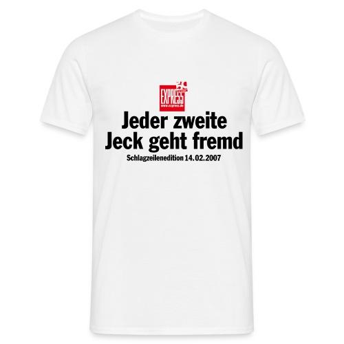 Jeder zweite Jeck - Männer T-Shirt