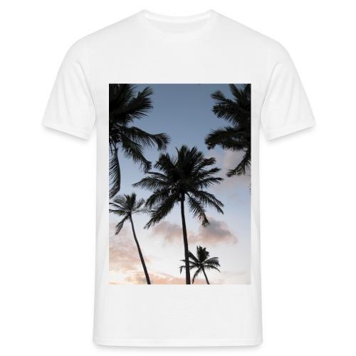 PALMTREES DOMINICAN REP. - Mannen T-shirt