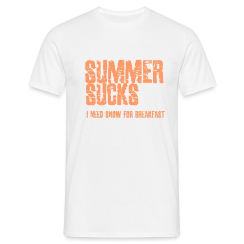 SUMMER SUCKS - Mannen T-shirt