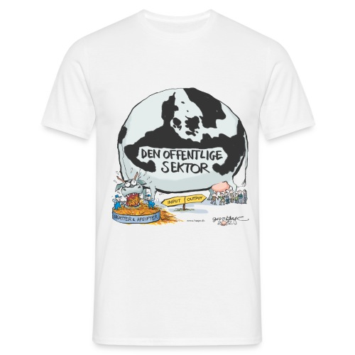 den offentlige sektor ko - Herre-T-shirt