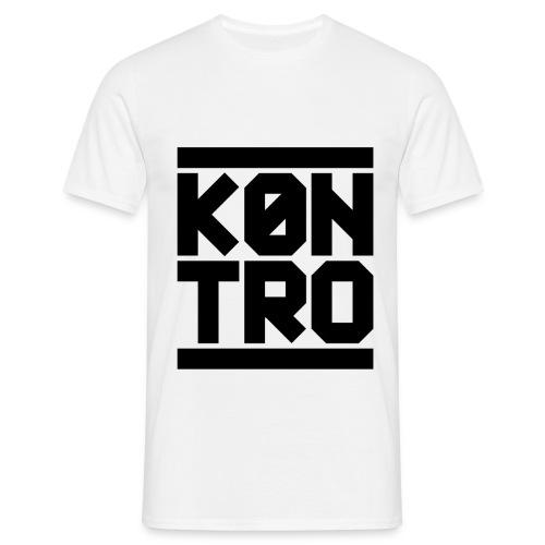 KONTRO Black Logo - Miesten t-paita