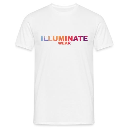 Illuminate Rainbow Text - Men's T-Shirt