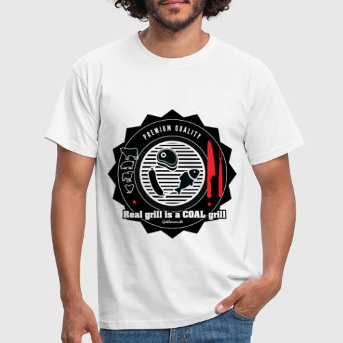 Real grill is coal grill - Herre-T-shirt