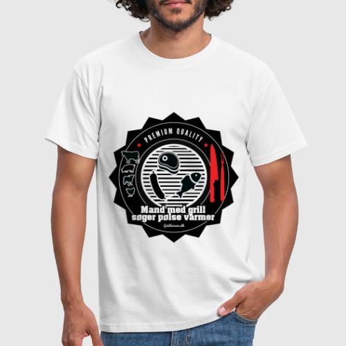 MANDMEDGRILL png - Herre-T-shirt