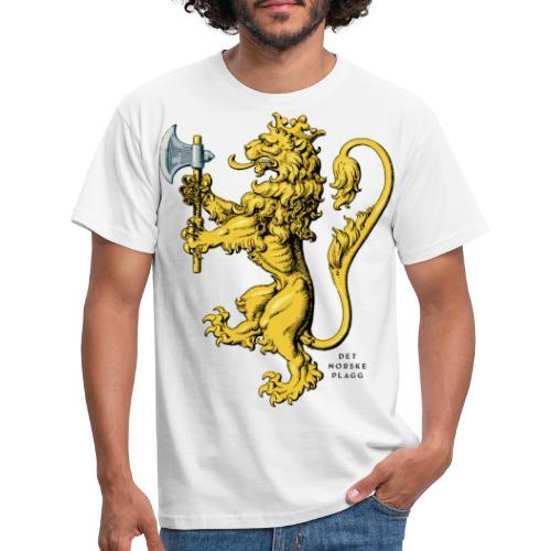 Den norske løve i gammel versjon - T-skjorte for menn