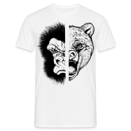 Gorilla Vs Bear - Men's T-Shirt