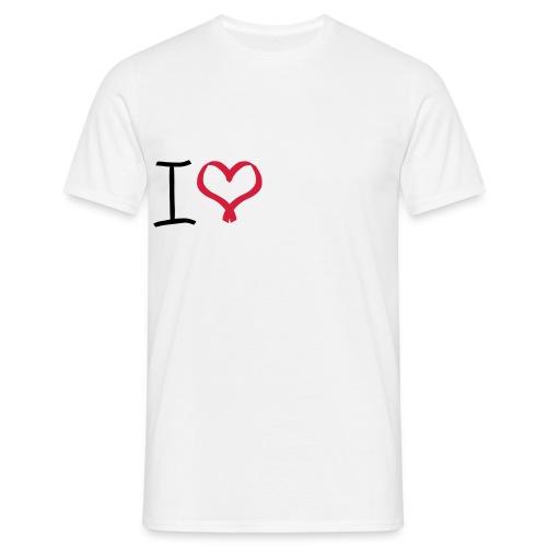 I love, I heart symbol - Men's T-Shirt