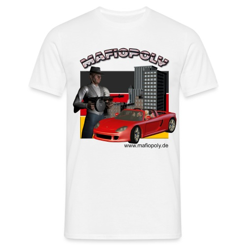Shirt-Mafiopoly weiß - Männer T-Shirt