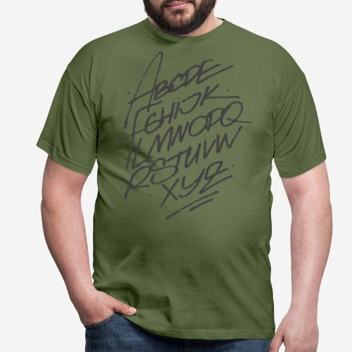letters font alphabet - Männer T-Shirt