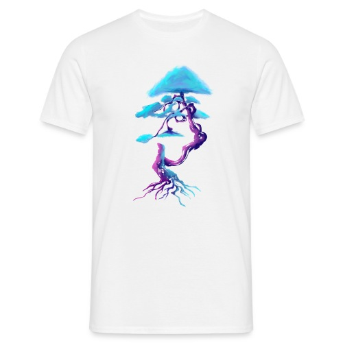 Tree design light blue and pink - Men's T-Shirt