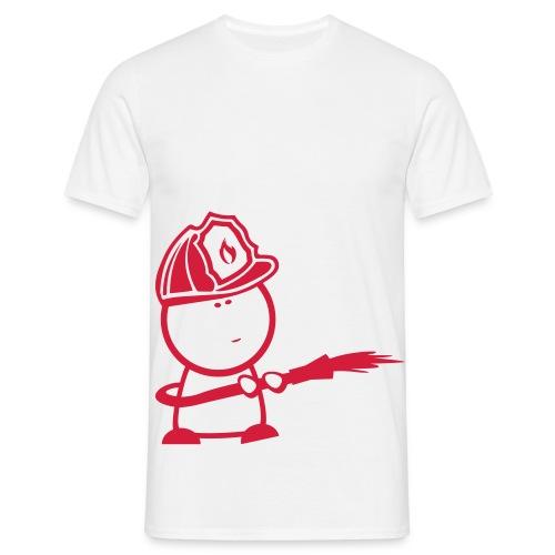 retter fire comic - Männer T-Shirt