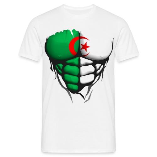 algerie drapeau torse corps muscle abdos - T-shirt Homme