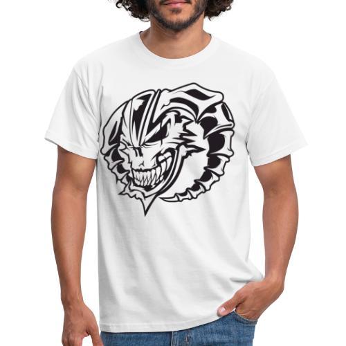 France Gabber Radio Crâne - T-shirt Homme