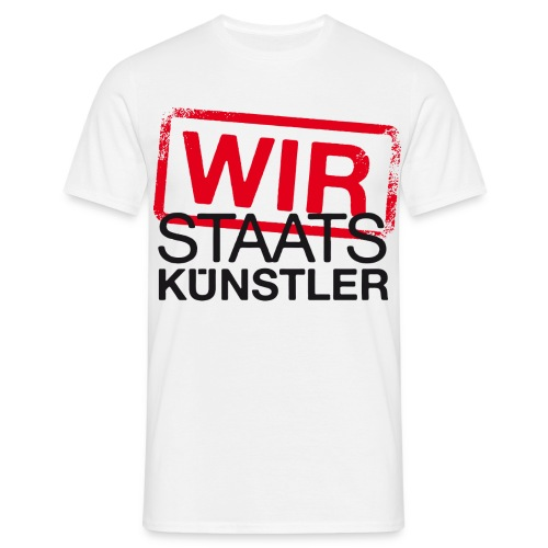 wir staatskunstler logo 2c - Männer T-Shirt