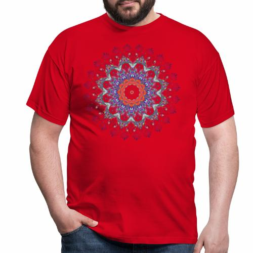 Orange mandala - Herre-T-shirt