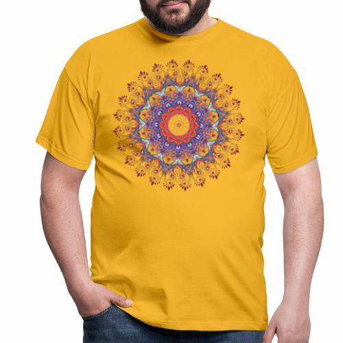 Orange mandala - Herre-T-shirt