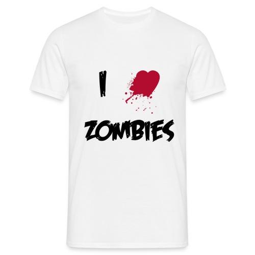 I Heart Zombies - Men's T-Shirt