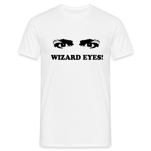 wizard eyes black - Men's T-Shirt