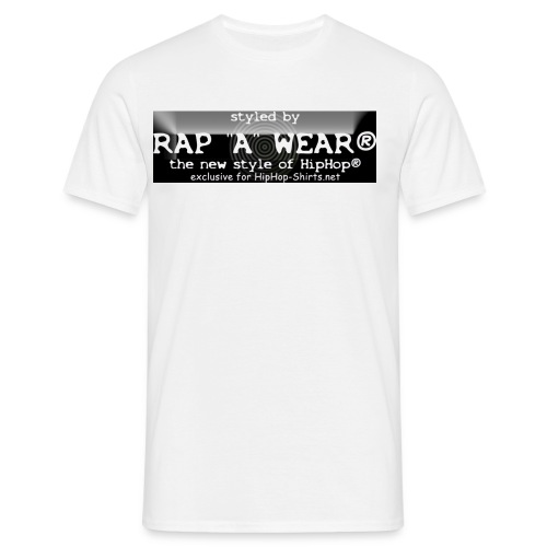 RAP A WEAR BLACK WHITE - Männer T-Shirt