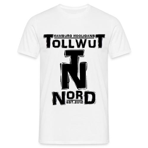 hamburg hools twn logo weiss - Männer T-Shirt