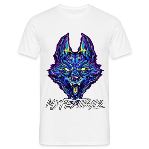 MyFestivals Blue Wolf - Männer T-Shirt