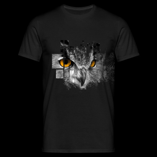 Owl pixel - Men's T-Shirt