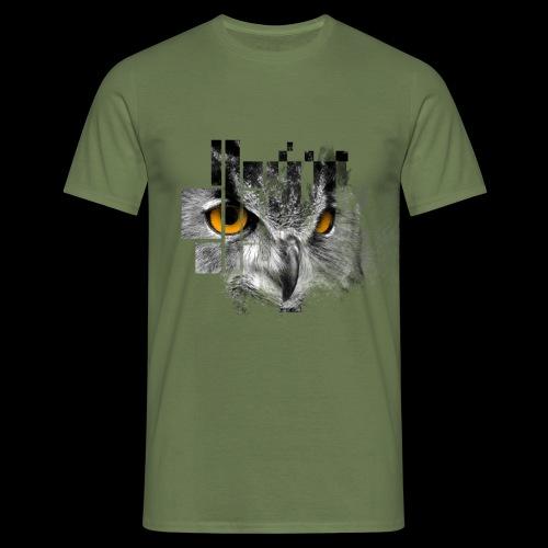 Owl pixel - Men's T-Shirt