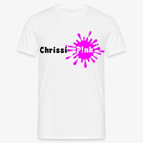 Chrissi Pink Weißes Shirt png - Männer T-Shirt