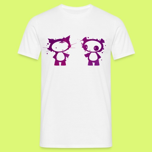Panda und Katze 2 - Männer T-Shirt