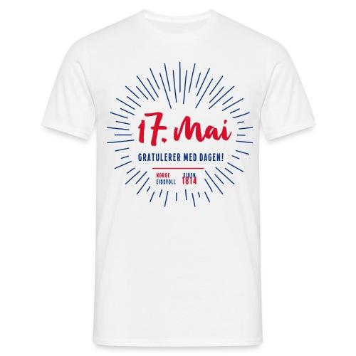 17. mai T-skjorte - Det norske plagg - T-skjorte for menn