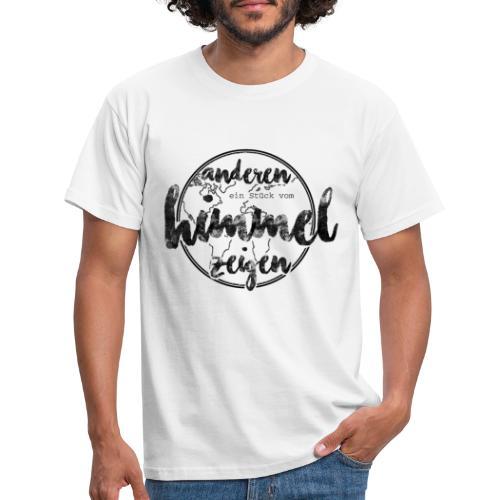 Anderen ein Stück vom Himmel zeigen_schwarz - Männer T-Shirt