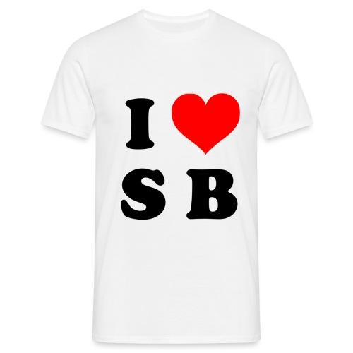 SB I love Skateboarding - Männer T-Shirt