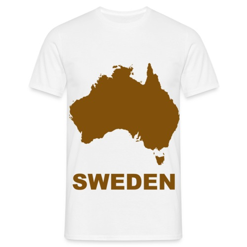 australia brown - T-shirt herr