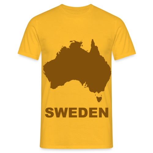 australia brown - T-shirt herr