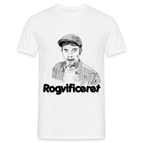 Rogvificeret merch - Sort tekst. - Herre-T-shirt